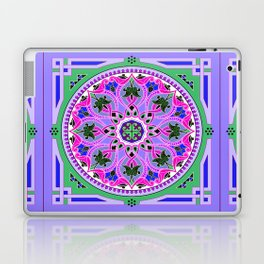Boho Floral Crest Purple Laptop & iPad Skin