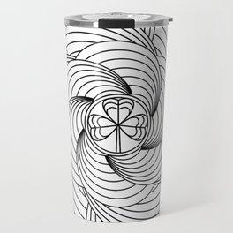 Mandala circle Travel Mug
