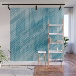 The Blue Hash - Geometric Pattern Wall Mural