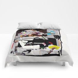 Same Time Collage Print Comforters