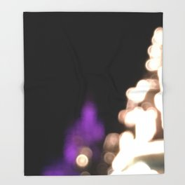 Castle at Night's Light Throw Blanket