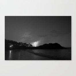 Thunderstorm over El Cid Marina in Mazatlan Canvas Print