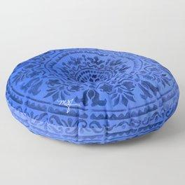 Sapphire Mandala Floor Pillow