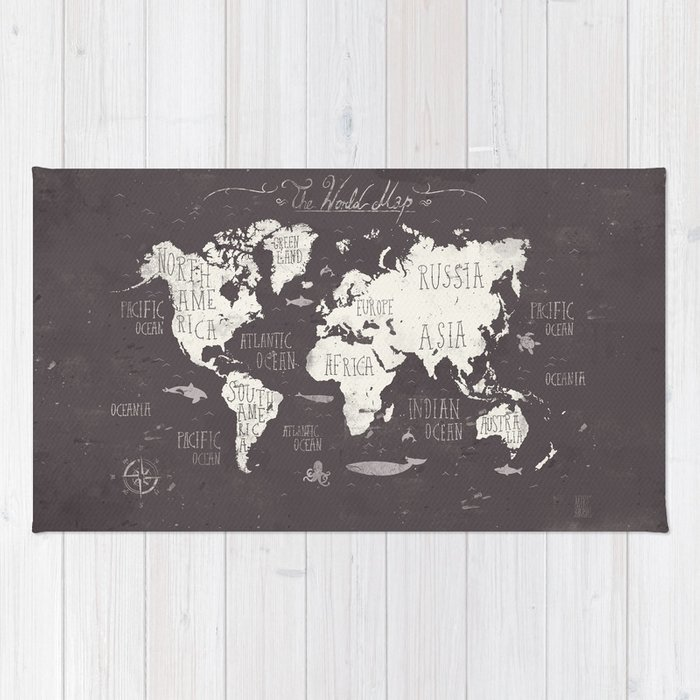 The world map rug by mikekoubou society6 the world map rug gumiabroncs Gallery
