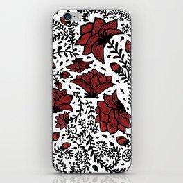Red Flower Garden iPhone Skin