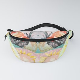 Bantam Roosters with Sunflowers Fanny Pack