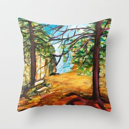Woodland Beauty Throw Pillow