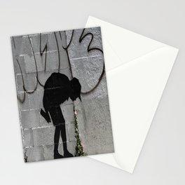 Bansky graffiti kid sick Stationery Cards