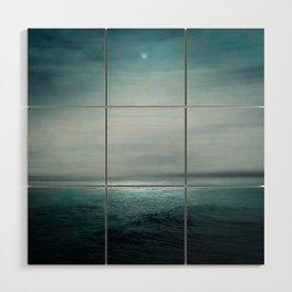 Sea Under Moonlight Wood Wall Art