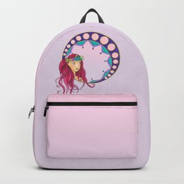 Pink Lady - Art Nouveau style Backpack