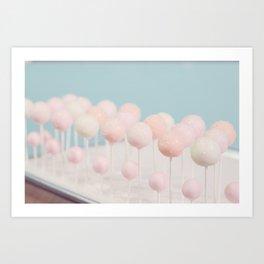 Pastel Cake Pops 10 Art Print