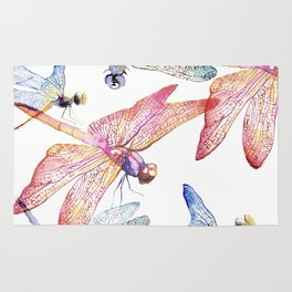 Dragonfly Pack Pink and Blue Rug