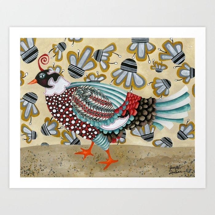 Pheasant Noble Art Print
