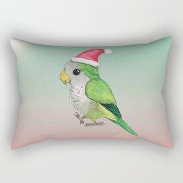 Green Christmas parrot Rectangular Pillow