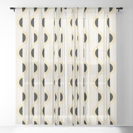 Gwynne Pattern - Canary Sheer Curtain