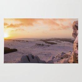 Hathersage Moor Sunrise Rug