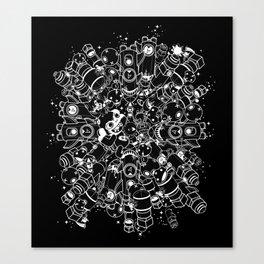 For Good For Evil - White on Black Canvas Print