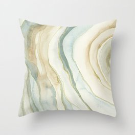 Earth and Agate Throw Pillow
