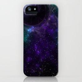 Purple Galactic Thunder iPhone Case