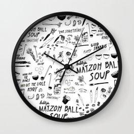 Matzoh Ball Soup Wall Clock