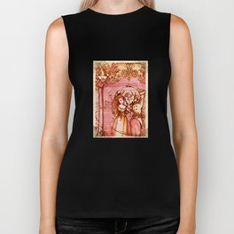 Much Ado About Nothing - Masquerade - Shakespeare Folio Illustration Biker Tank