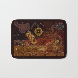 Desert Heat - Australian Aboriginal Art Theme Bath Mat