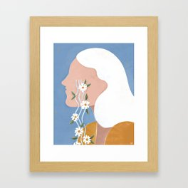 Fierce tears Framed Art Print