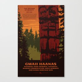 Gwaii Haanas National Park Reserve, National Marine Conservation Area Reserve & Haida Heritage Site Canvas Print