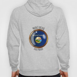 Montana Proud Flag Button Hoody