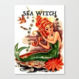 Sea Witch Print Canvas Print