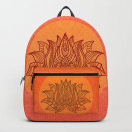 Lotus Flower of Life Meditation  Art Backpack