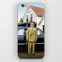 Mr. Fox posing with his new car iPhone Skin