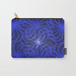 Cobalt Pinwheels Carry-All Pouch