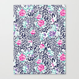 floral animal Canvas Print