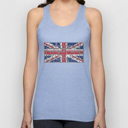 Cockney Rhyming slang / Union Jack Unisex Tank Top