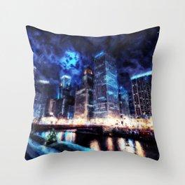 Chicago Panorama Throw Pillow