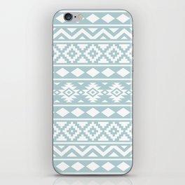 Aztec Essence Ptn III White on Duck Egg Blue iPhone Skin