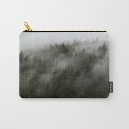 Pacific Northwest Foggy Forest Carry-All Pouch