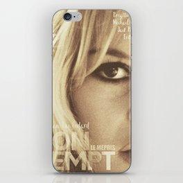 Brigitte Bardot, Contempt, movie poster, Le Mépris, Jean-Luc Godard, Fritz Lang, iPhone Skin