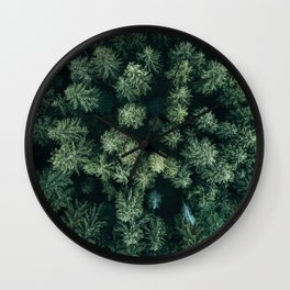 Forest from above - Landscape Photography Wall Clock