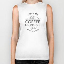 Outdoor Coffee Drinkers Club Biker Tank