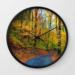 Autumn in Pennsylvania Wall Clock