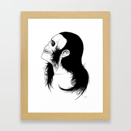 Skull Girl Framed Art Print