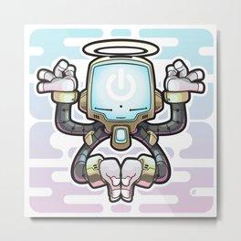 CONNECT_Bot022 Metal Print