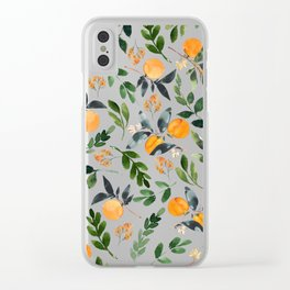 Orange Grove Clear iPhone Case