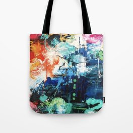 Colors Collide Tote Bag
