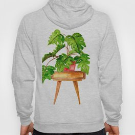 Monstera on a table Hoody