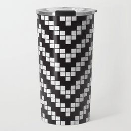 Herringbone Weave Seamless Pattern. Travel Mug