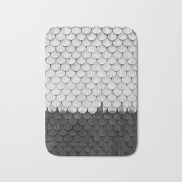 SHELTER / white and black Bath Mat