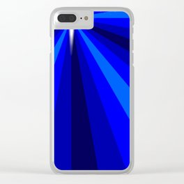 Blue Christmas Star Clear iPhone Case